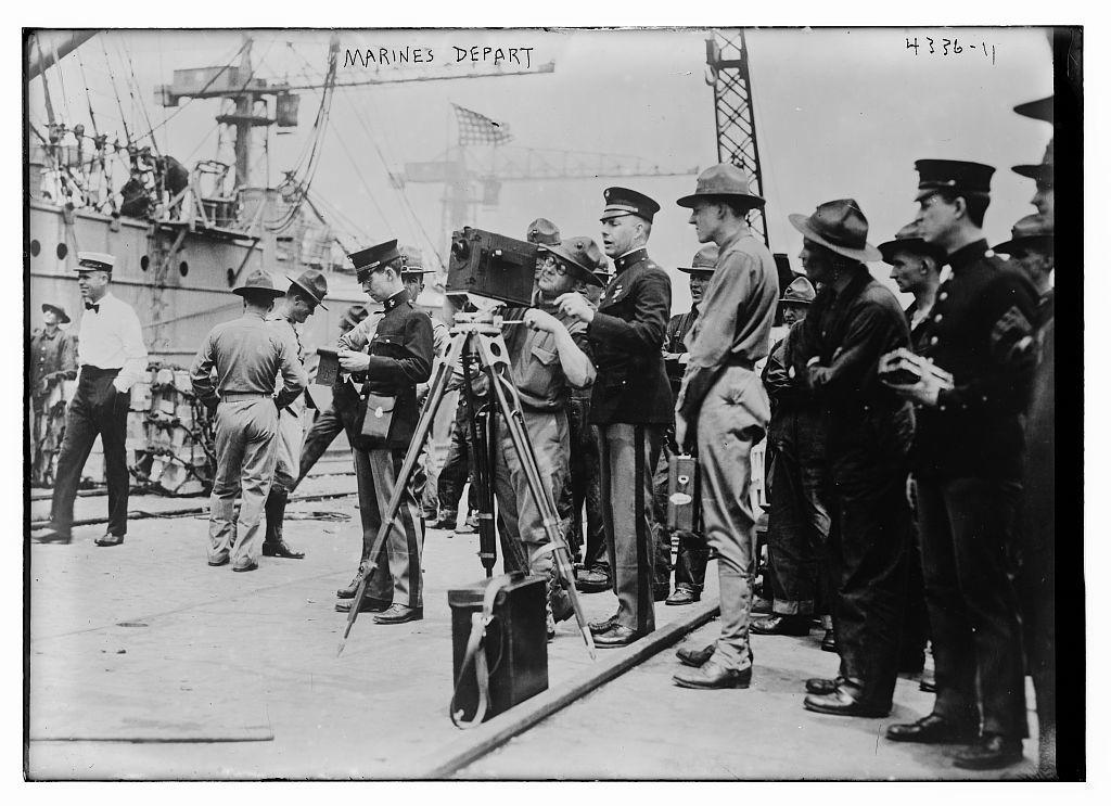 Marines depart