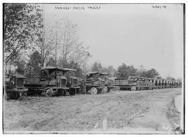 Marines motor trucks