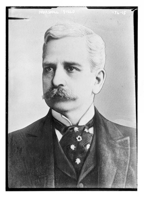 Marshall Field, portrait bust
