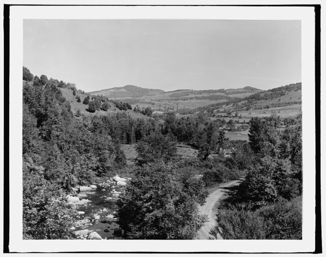 [Mill River Valley from the bridge, Green Mtns., Vt.]