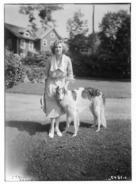 Miller with dog