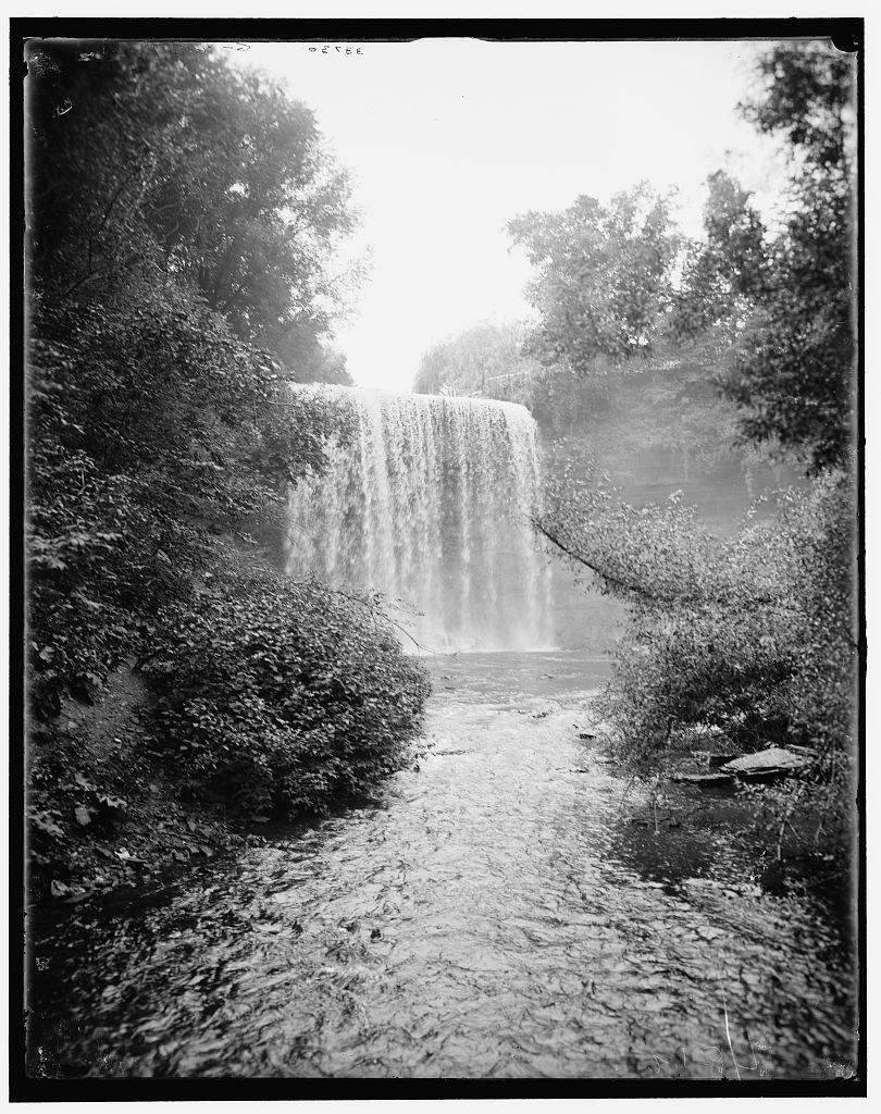 [Minnehaha Falls from below, Minneapolis, Minnesota]