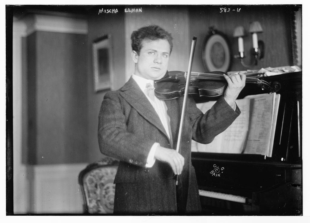 Mischa Elman, playing violin