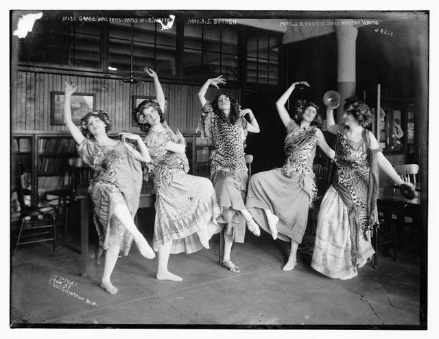 Miss Grace Walters, Miss M.R. White, Mrs. A.S. Burden, Mrs. J.B. Eustis, Miss Martha White: Greek Festival