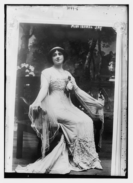 Miss Isabel Jay seated
