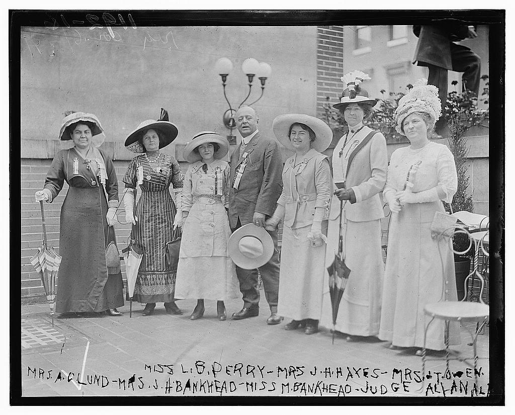 Miss L.B. Perry, Mrs. J.H. Hayes, Mrs. J.T. Owen, Mrs. A. Clund, Mrs. J.H. Bankhead, Miss M. Bankhead, Judge Alyanala