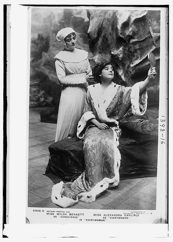"Miss Wilda Bennett as ""Conscience"" and Miss Alexandra Carlisle as ""Everywoman"" in ""Everywoman"""