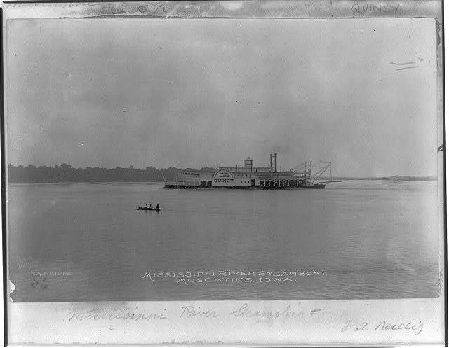 Mississippi River steamboat, Muscatine, Iowa