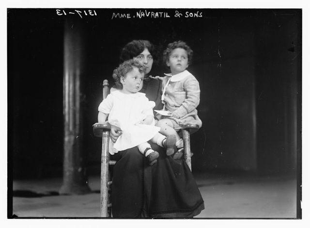 Mme. Nevratil and sons