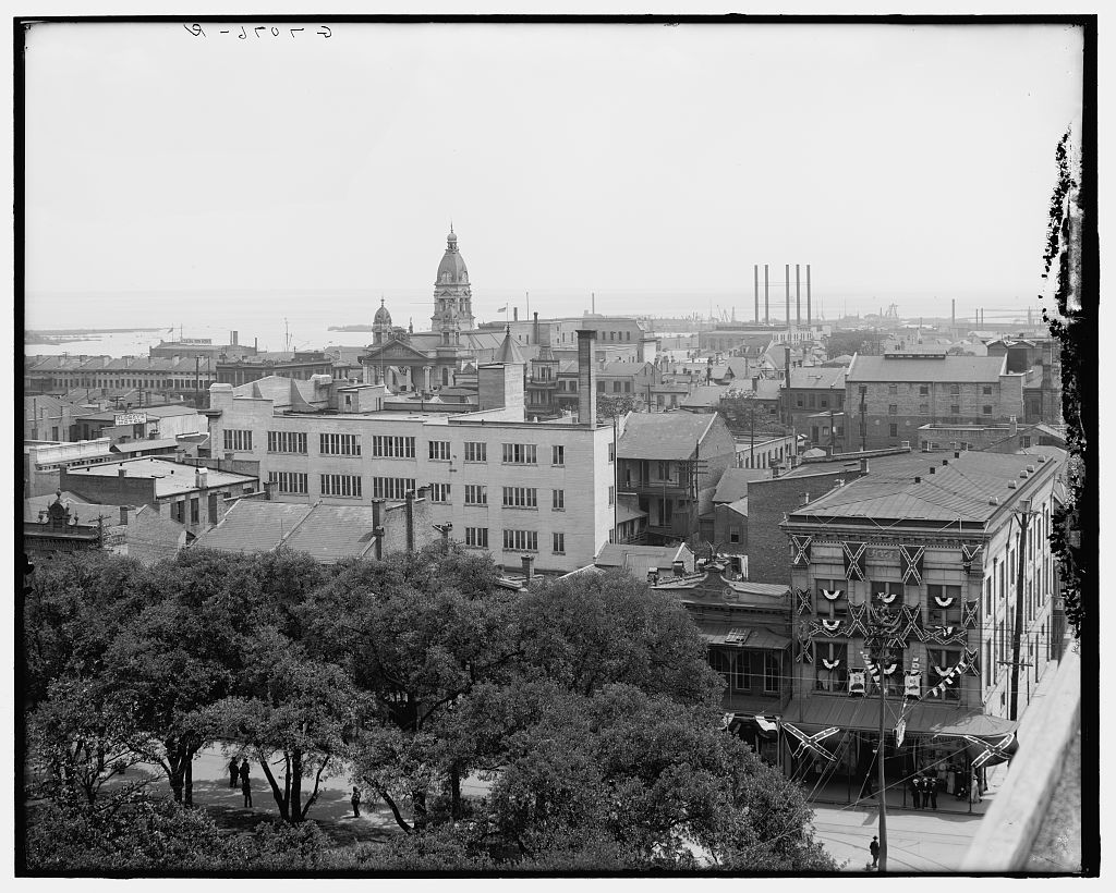 [Mobile & the harbor from Bienville Square, Mobile, Ala.]
