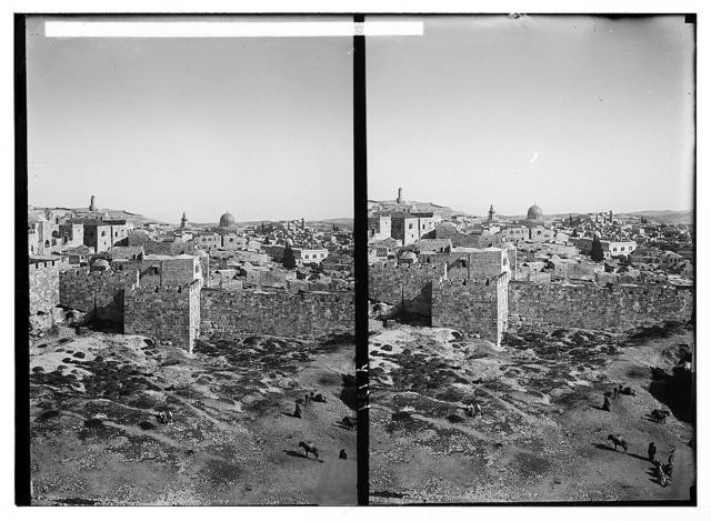 Mount of Olives, Bethany, etc. Jerusalem from the Governorate, (St. Paul's Hospice)
