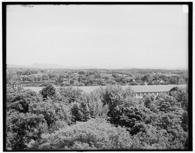 [Mounts Tom and Holyoke from U.S. Armory tower, Springfield, Mass.]