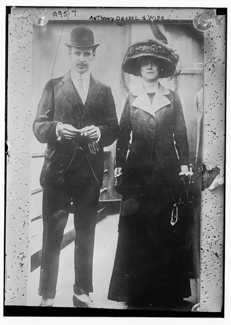 Mr. and Mrs. Anthony Drexel aboard ship