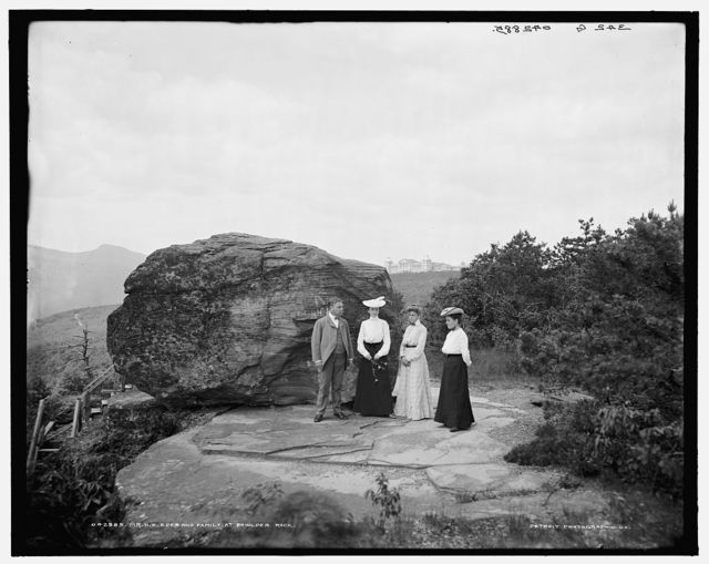 Mr. H.E. Eder and family at Bowlder [i.e. Boulder] Rock