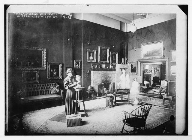 Mrs. Catherine Wentworth in her art studio, 15 W. 67th St., New York