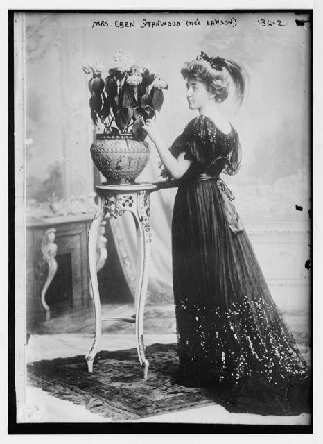 Mrs. Eben Stanwood (nee Lawson), standing