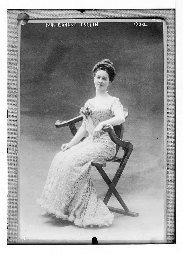 Mrs. Ernest Iselin, seated