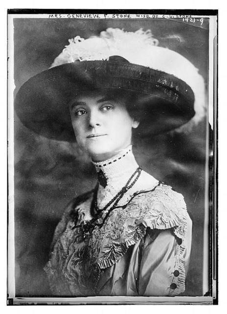 Mrs. Genevieve F. Stone, wife of C.U. Stone