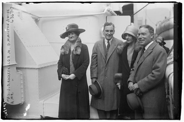 Mrs. J.D. Rockefeller Jr., D.M. Milton and wife, & Mr. J.D. Rockefeller Jr.