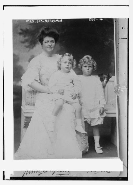 Mrs. Jos. Harriman, with two children