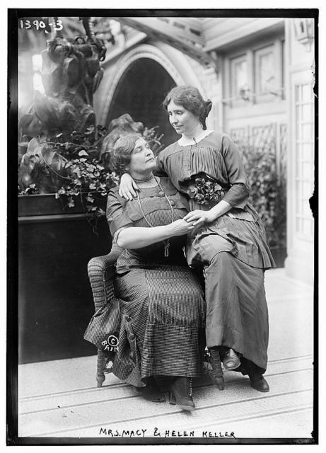 Mrs. Macy and Helen Keller
