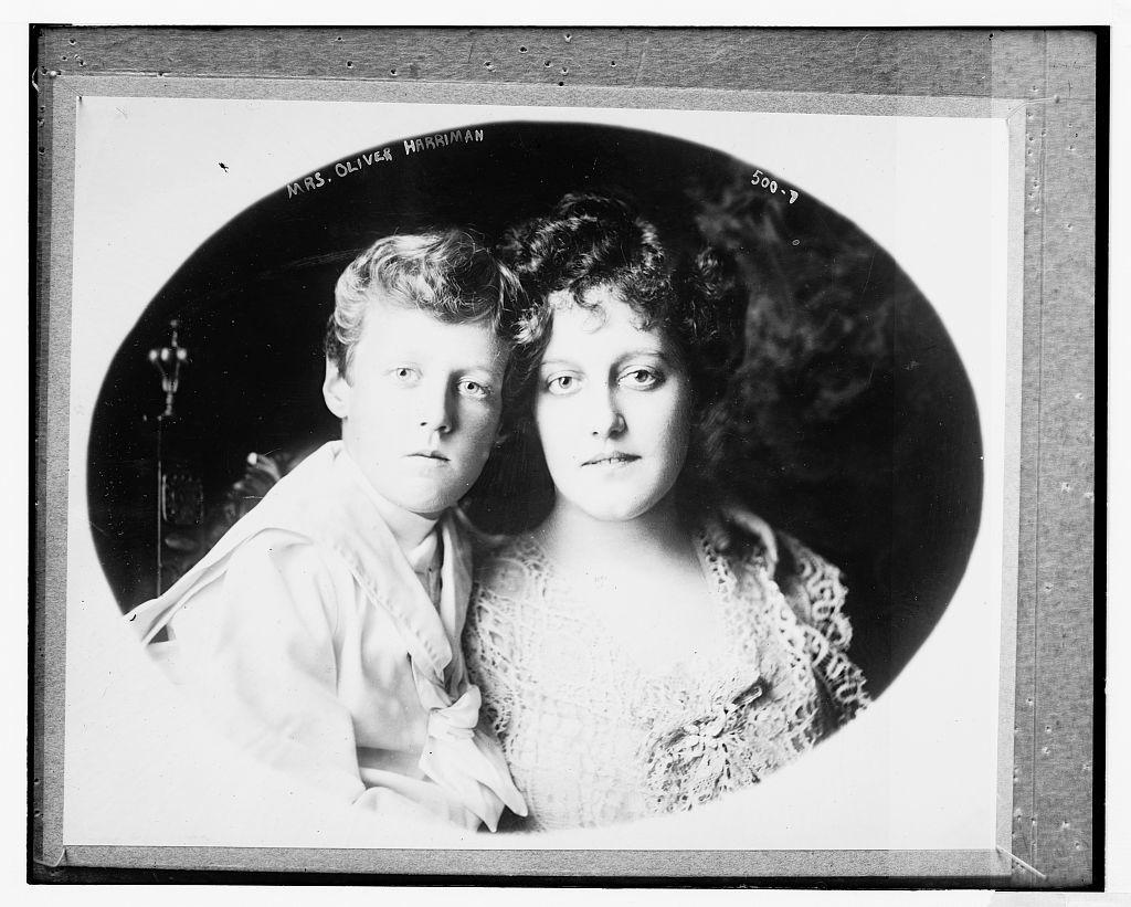 Mrs. Oliver Harriman & son