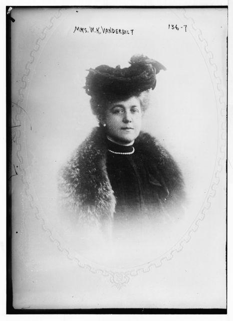 Mrs. W.K.Vanderbilt, cameo portrait
