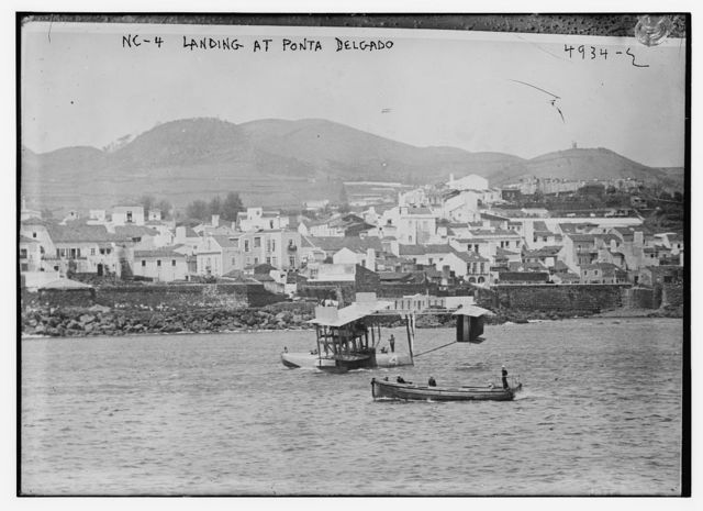 NC-4 landing at Ponta Delgado
