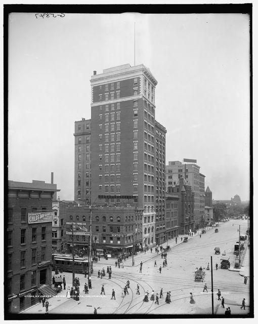 N.E. [i.e. Northeast] corner, High and Broad Sts., Columbus, O[hio]