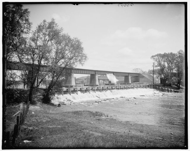 [New bridge at the dam, Ann Arbor, Mich.]