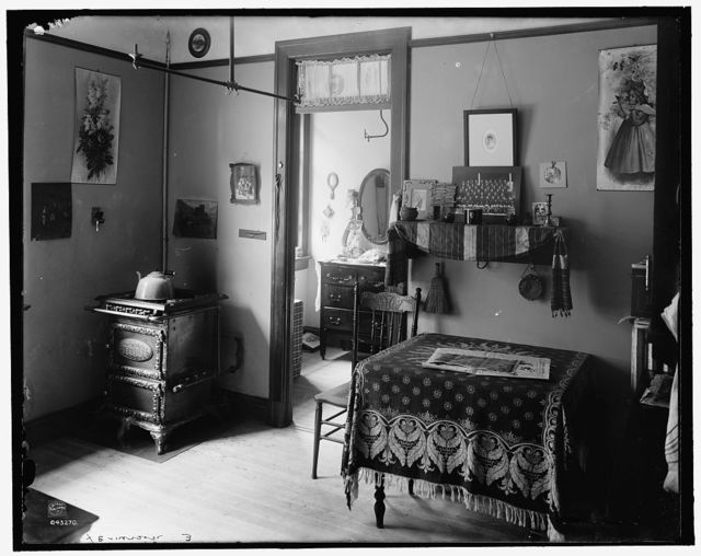 [New York City, interior of tenement house]