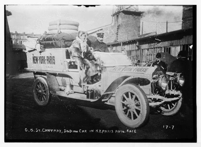 New York - Paris race - G.B. St. Chaffray, Dedion car