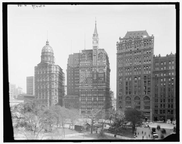[Newspaper Row, City Hall Park, New York, N.Y.]
