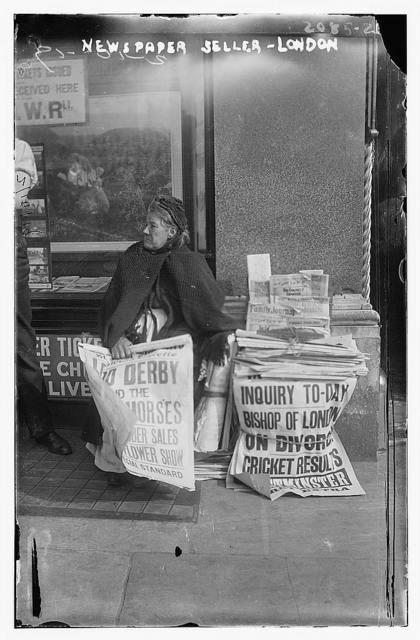 Newspaper seller, London