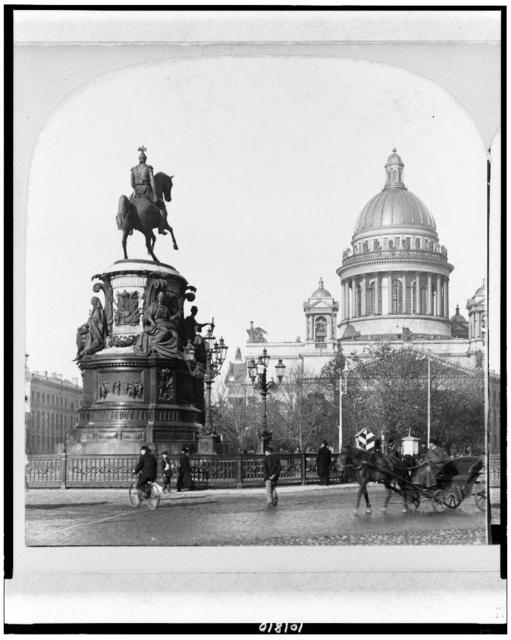 Nicholas I monument & Isaac cathedral, St. Petersburg