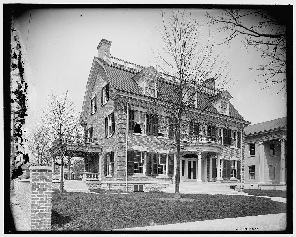 [North Delaware Street, facsimile of John Hancock House, Indianapolis, Ind.]