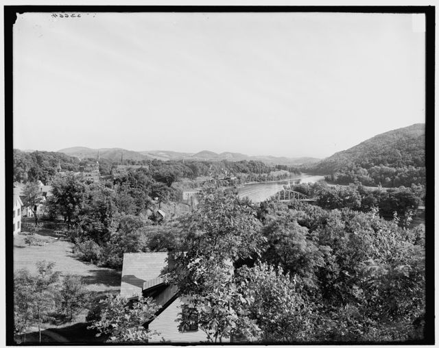 [North from Cemetery Hill, Brattleboro, Vt.]