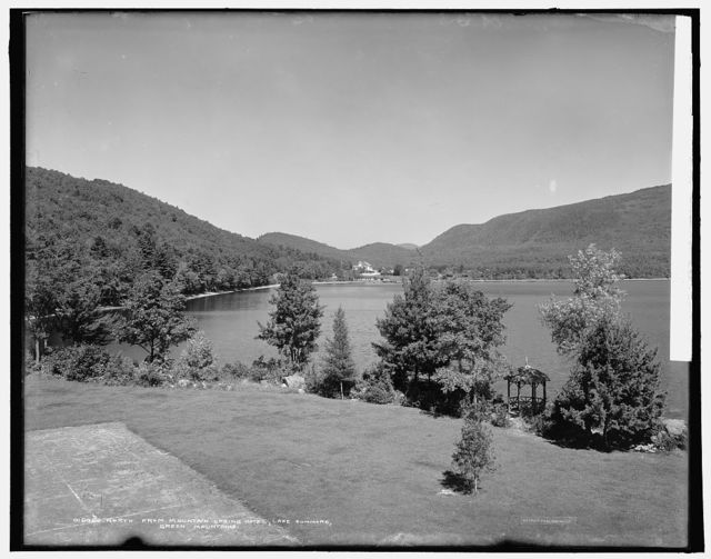 North from Mountain Spring Hotel, Lake Dunmore, Green Mountains
