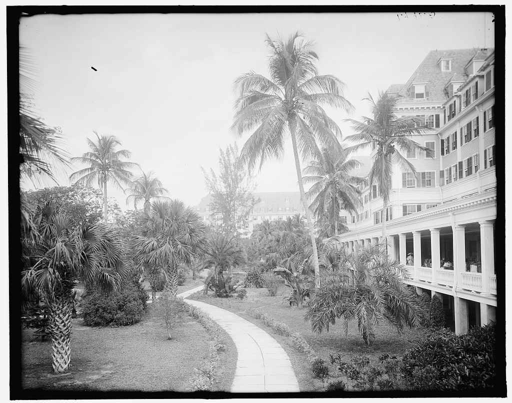 [North from the colonnade, Royal Poinciana, Palm Beach, Fla.]