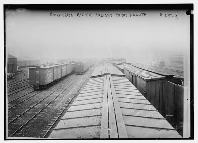 Northern Pacific freight yards, Duluth, Minn.