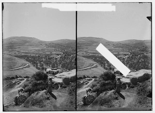 Northern views. Looking S. toward Valley of Samaria