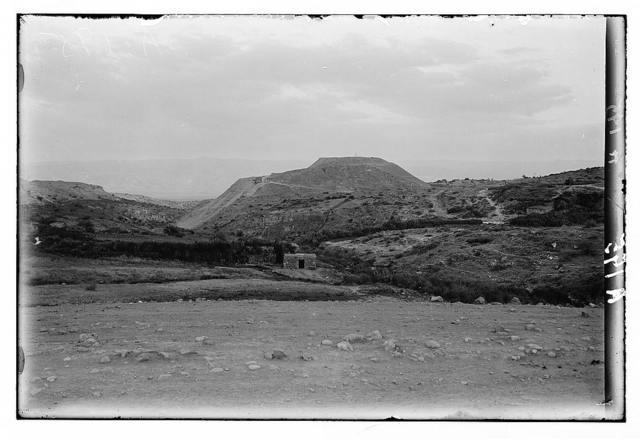 Northern views. The excavations at Bethshean. The tell at Bethshean