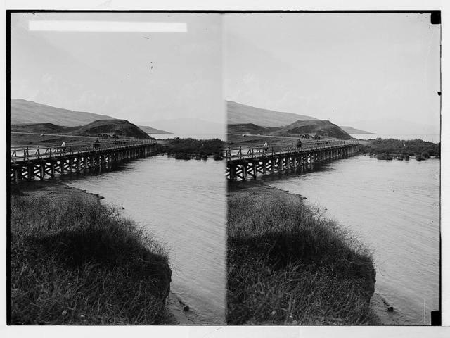 Northern views. Timber trestle bridge at Semakh