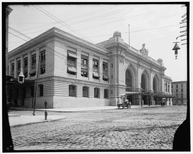 N.Y.C. & H.R.R.R. [New York Central & Hudson River Railroad] Station, Albany, N.Y.