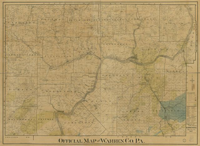 Official map of Warren Co. Pa. /