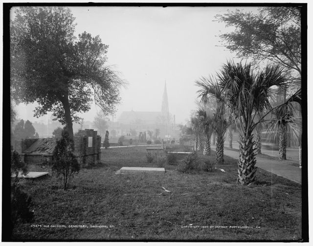 Old Colonial Cemetery, Savannah, Ga.