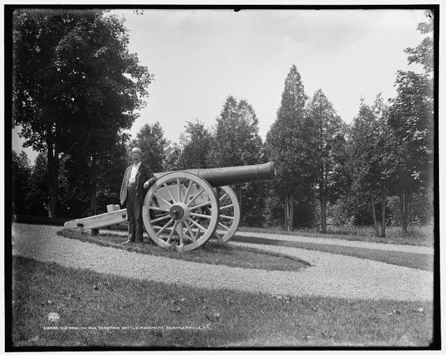 Old English gun, Saratoga Battle Monument, Schuylerville, N.Y.