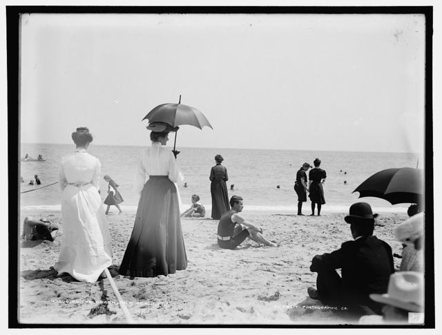 On the beach, Palm Beach, Fla.