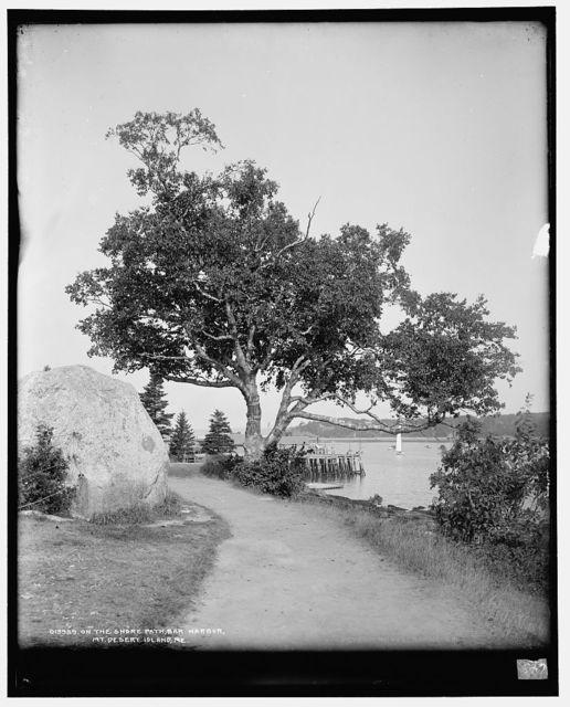 On the shore path, Bar Harbor, Mt. [i.e. Mount] Desert Island, Me.