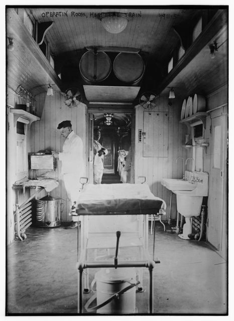 Operatin [i.e. operation] Room, hospital train